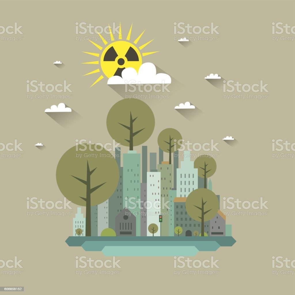 核放射線のコンセプトですチェルノブイリ原発事故 アイデアのベクター