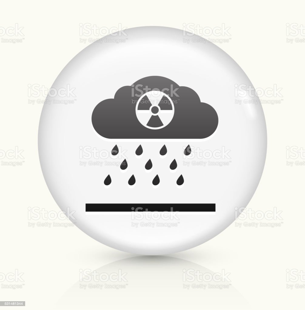Nuclear Rain icon on white round vector button vector art illustration