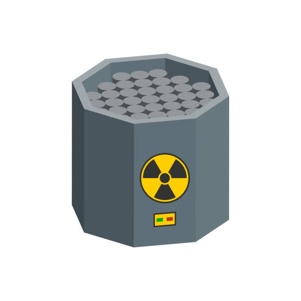 Nuclear reactor with graphite rods.Isometric and 3D view. Nuclear reactor with graphite rods.Isometric and 3D view. lead poisoning stock illustrations