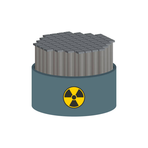 Nuclear reactor with graphite rods.Vector isometric and 3D view. Nuclear reactor with graphite rods.Vector isometric and 3D view. lead poisoning stock illustrations