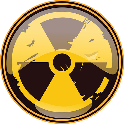 Nuclear Sign, Vector Illustration.