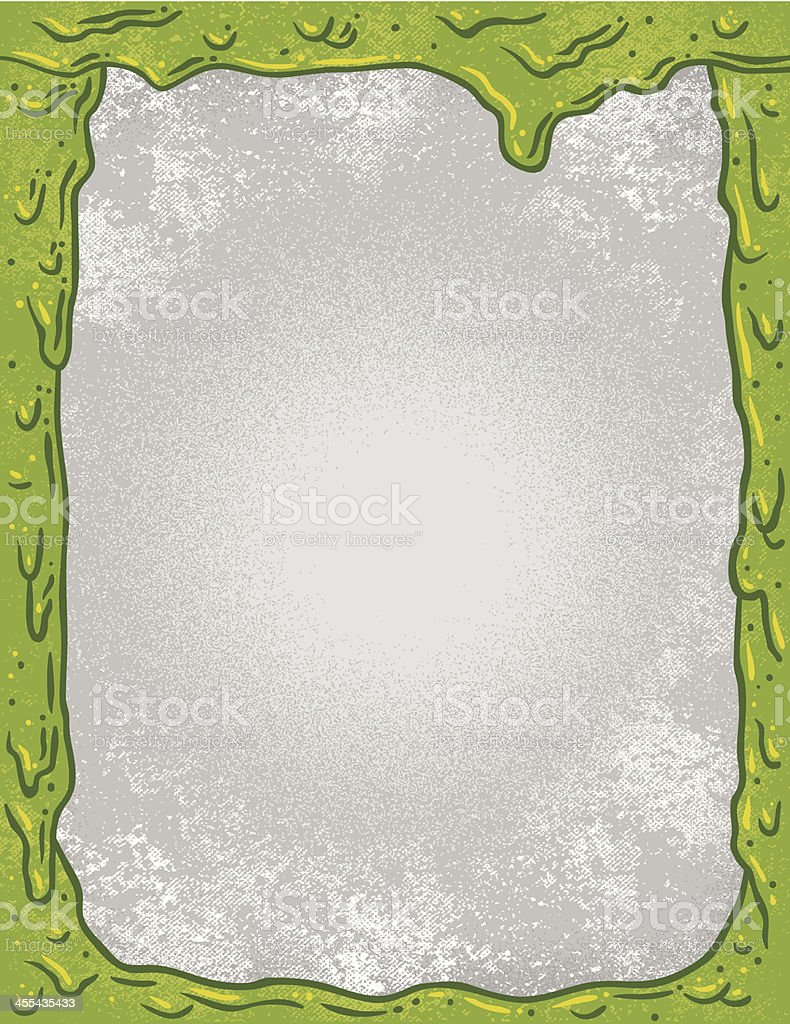 Nuclear Slime Border vector art illustration