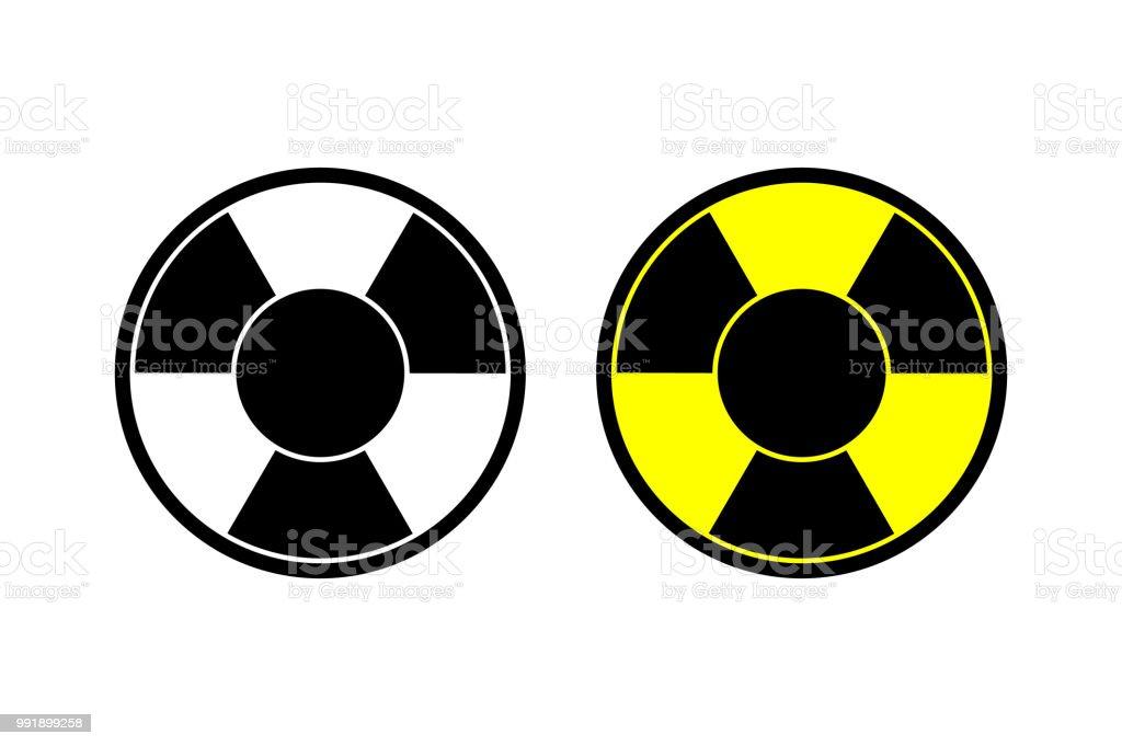 Nuclear Vector Icon Radiation Hazard Sign Alert Danger Symbol Web