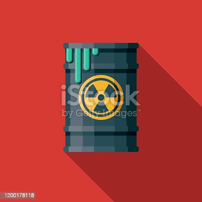 istock Nuclear Waste Barrel Icon 1200178118