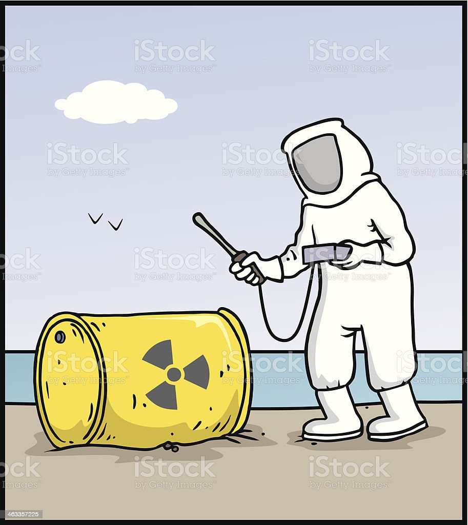 Nuclear waste royalty-free stock vector art