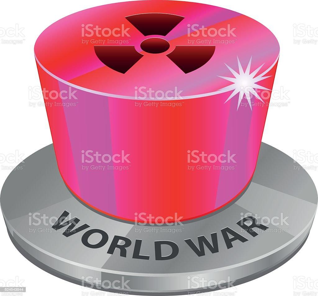 Nuclear world war button vector vector art illustration