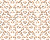Seamless nude pink damask luxury decorative textile pattern.