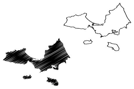 Nueva Esparta State map vector