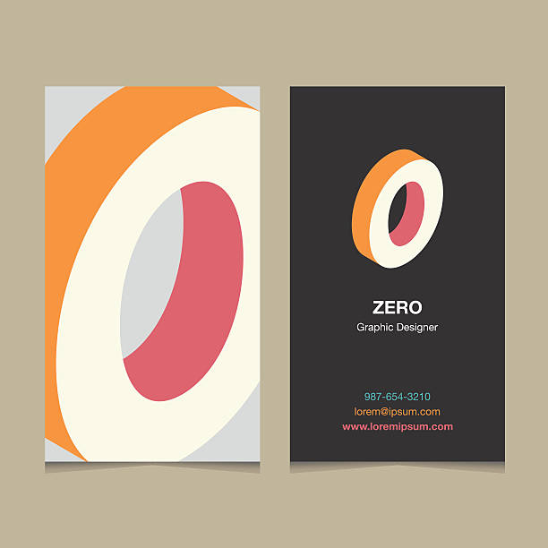 """number """"0"""" Number """"0"""", with business card template. Vector graphic design elements for company logo. zero stock illustrations"""