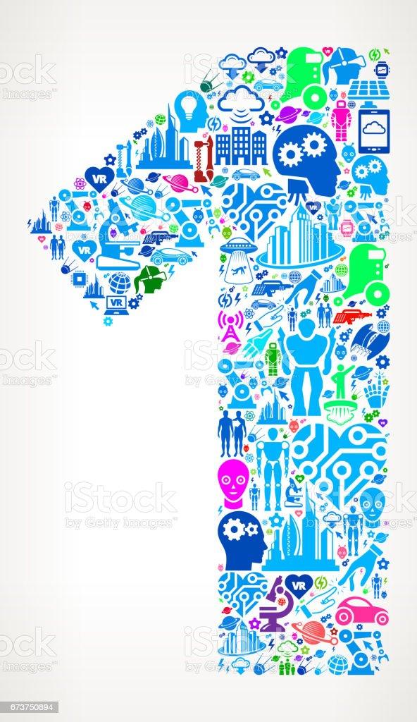 Numéro 1 des technologies futures et futuriste Vector Icon Background numéro 1 des technologies futures et futuriste vector icon background – cliparts vectoriels et plus d'images de affaires finance et industrie libre de droits