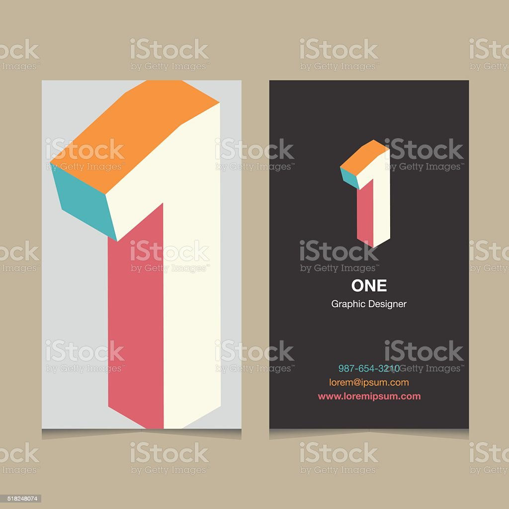 number '1' vector art illustration