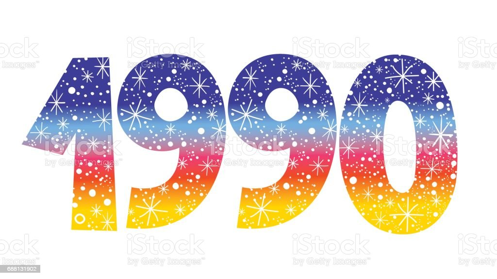 Number 1990 Stock Illustration - Download Image Now - iStock