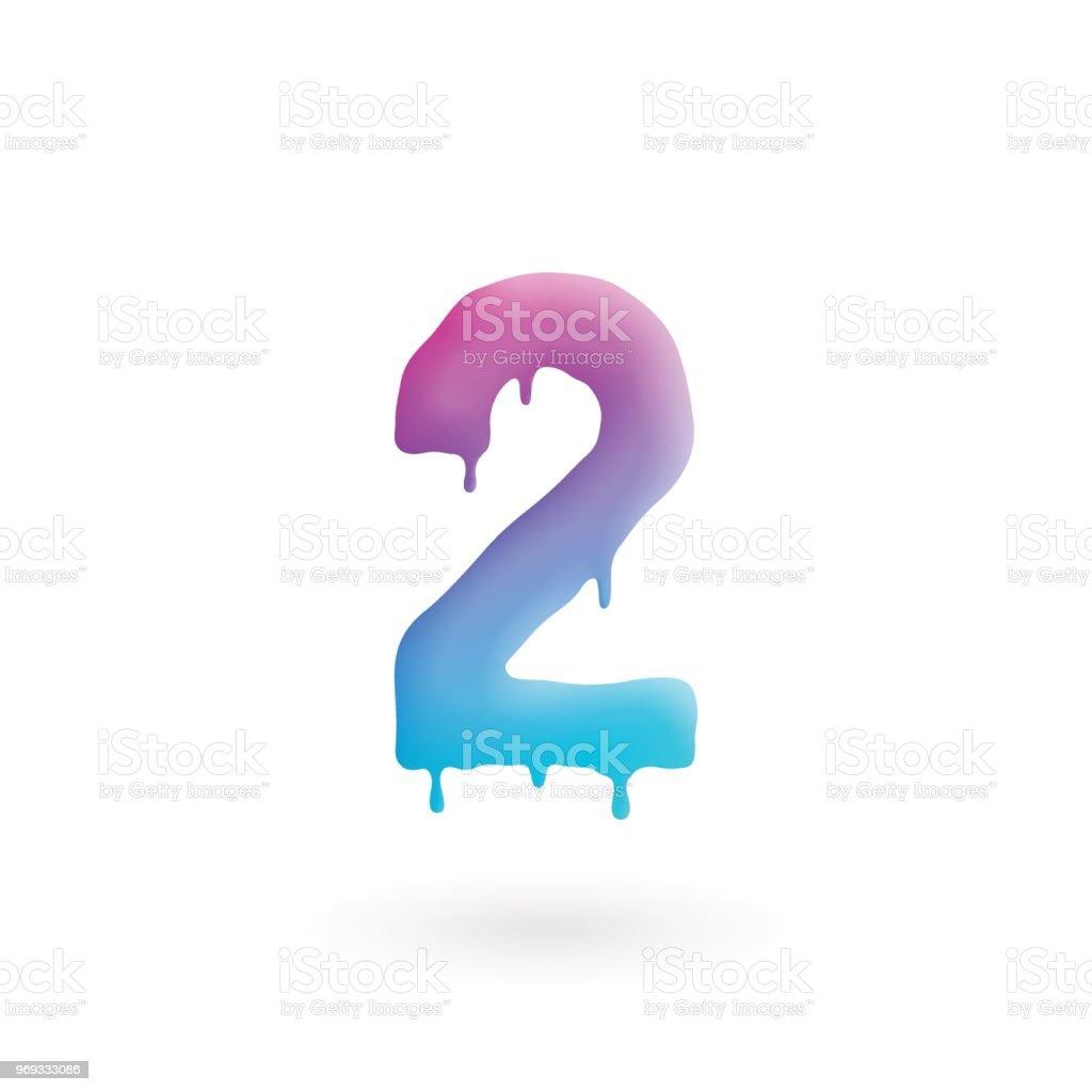 2 Numaralı Logosunu Görmeniz Gerekir Renkli Boya Iki Simgesiyle