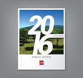 Number 2016 typography on abstract background for business annual report