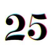 Number 25 print overlay design
