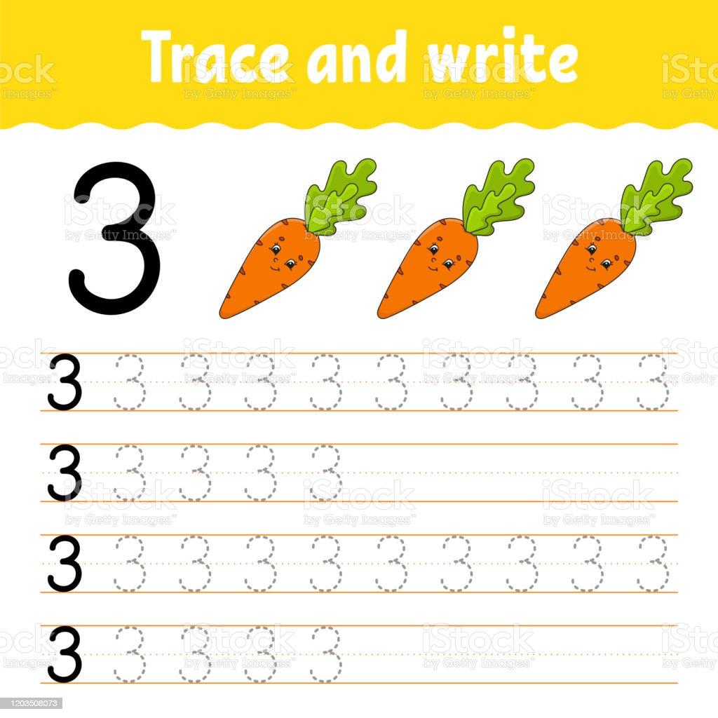 Nummer 23 Verfolgen Und Schreiben Handschriftpraxis Lernzahlen Für