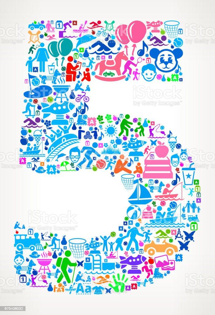 Vacances en famille numéro 5 et plaisirs d'été en icônes arrière-plan vacances en famille numéro 5 et plaisirs dété en icônes arrièreplan – cliparts vectoriels et plus d'images de activité de loisirs libre de droits