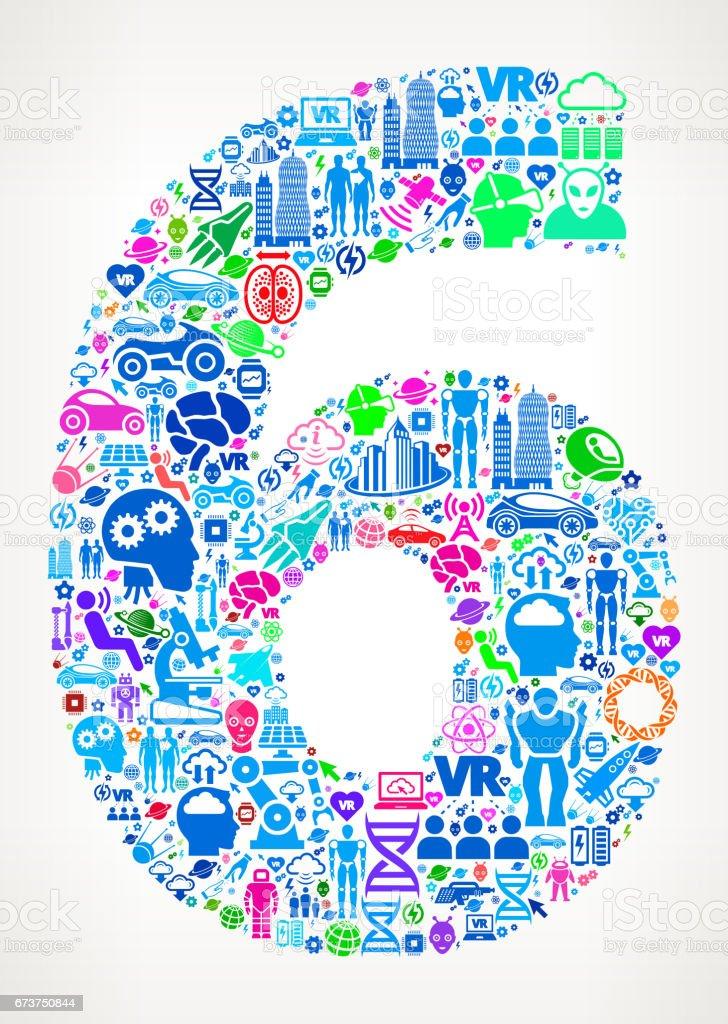 6 numaralı gelecek ve fütüristik teknoloji vektör simge arka plan royalty-free 6 numaralı gelecek ve fütüristik teknoloji vektör simge arka plan stok vektör sanatı & 6 rakamı'nin daha fazla görseli