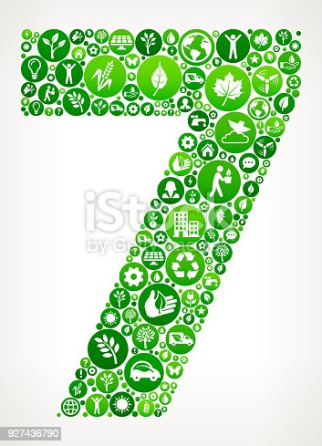 istock Number 7 Nature and Environmental Conservation Icon Pattern 927436790