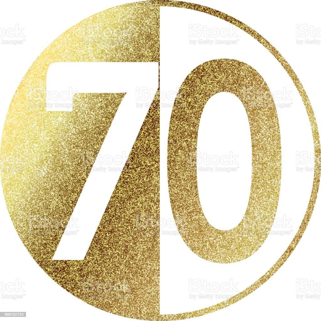 70 number circle anniversary vector celebration culture entertainment arts
