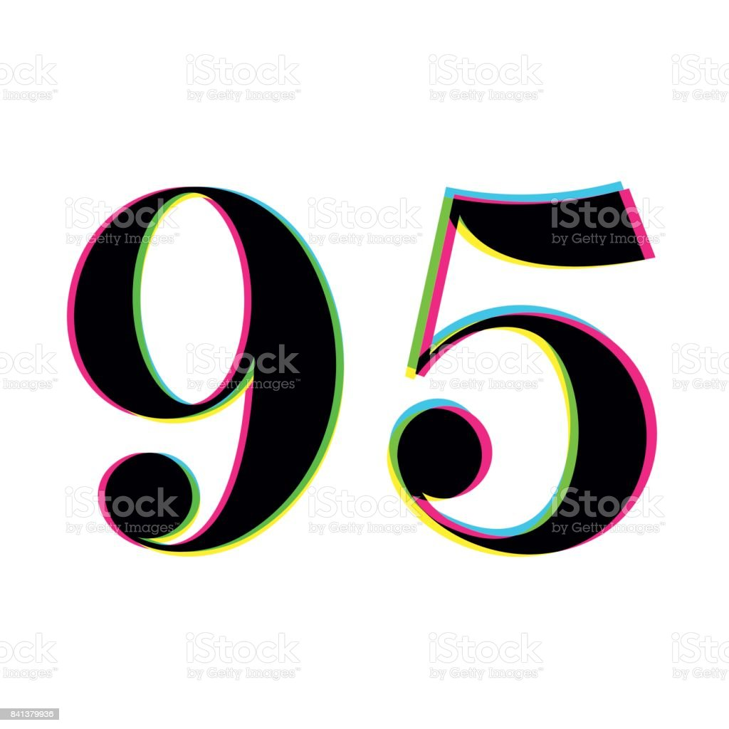 Diagram Number 95 Print Overlay Design Stock Illustration