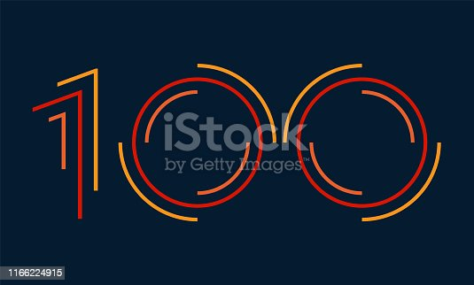 Colorful striped dynamic numbers design