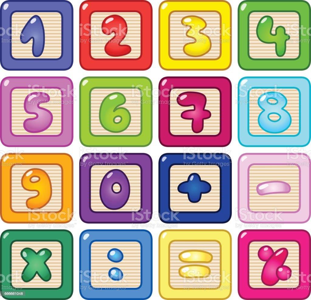 Número de bloques - ilustración de arte vectorial