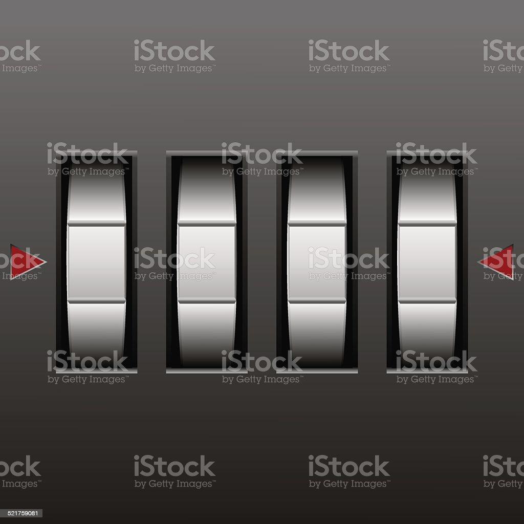 number combination lock vector art illustration