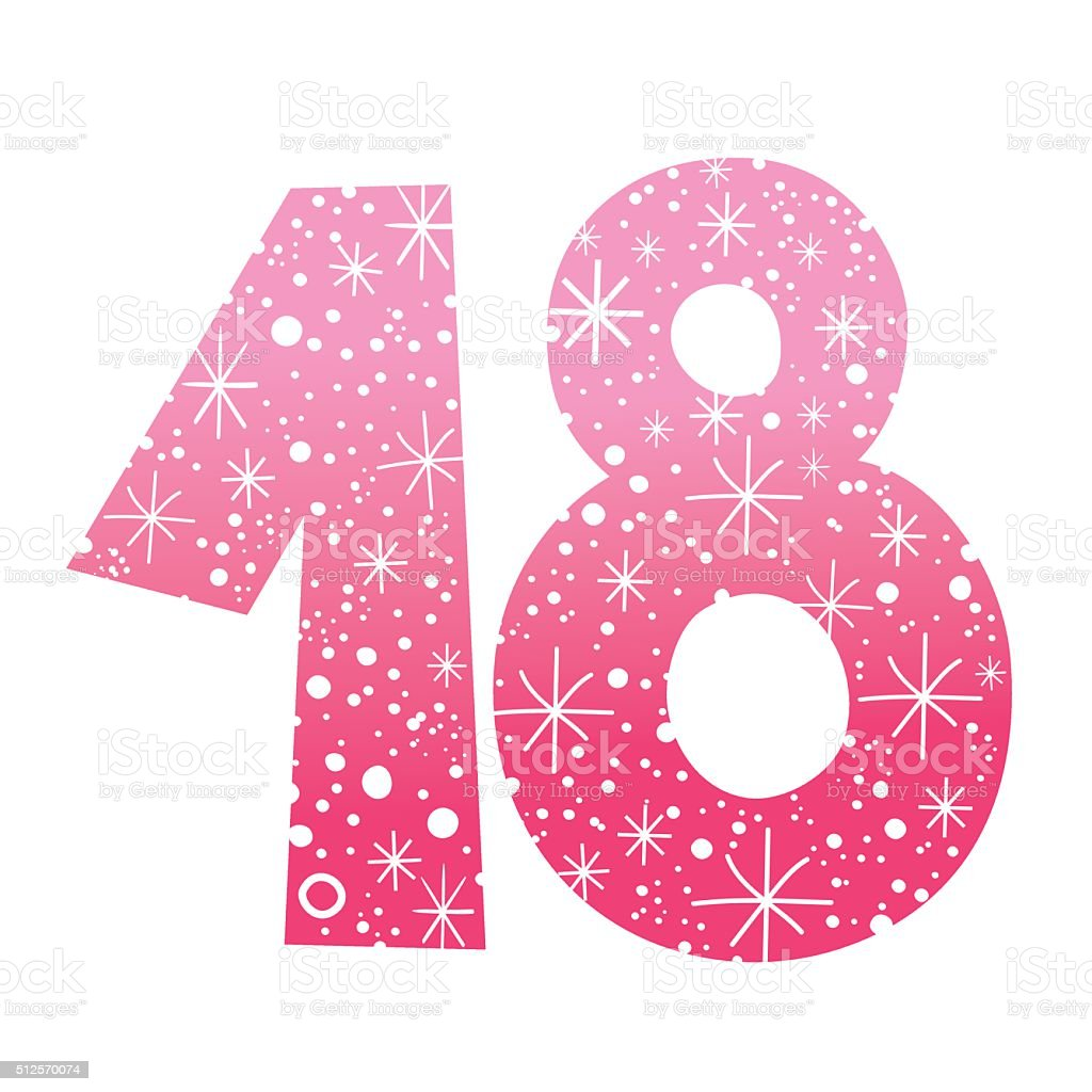 number eighteen stock vector art  u0026 more images of 18-19 years