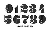 istock Number font. Font of numbers in classical french didot style 1217753702