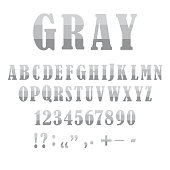 istock Number font. Sketch gray letters numbers. Beautiful sketch alphabet on white backdrop. Stock image. EPS 10. 1298232103