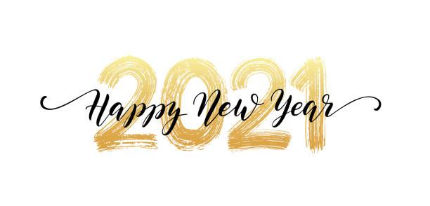 ilustraciones, imágenes clip art, dibujos animados e iconos de stock de 2021 número de letras a mano. feliz texto del guión del año nuevo. efecto de textura de pincel seco. feliz navidad. ilustración vectorial - año nuevo