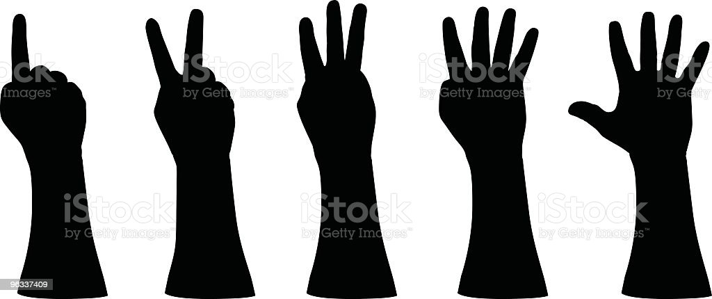 Number Hands ~ Vector royalty-free number hands vector stock vector art & more images of adult