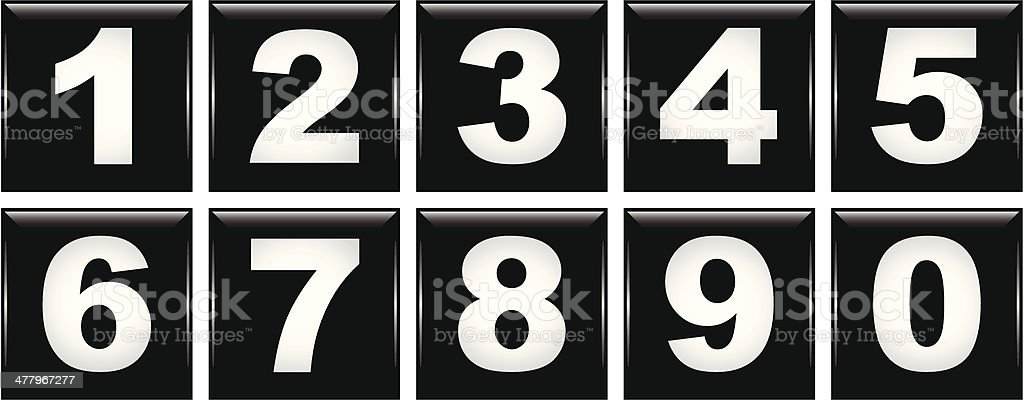 Number Icons royalty-free stock vector art