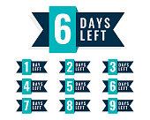 number of days left badge design