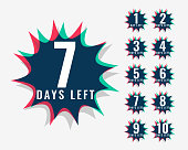 number of days left symbol