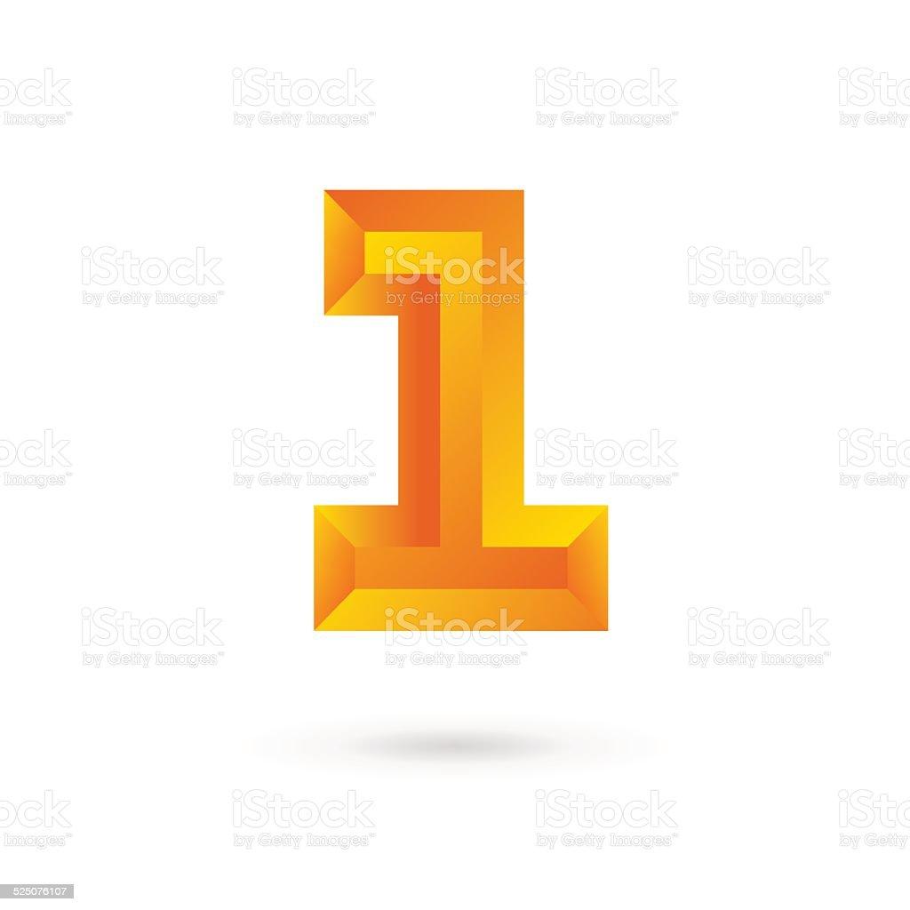 ナンバー 1 1 エンブレムアイコンテンプレートデザイン要素 アイコンの