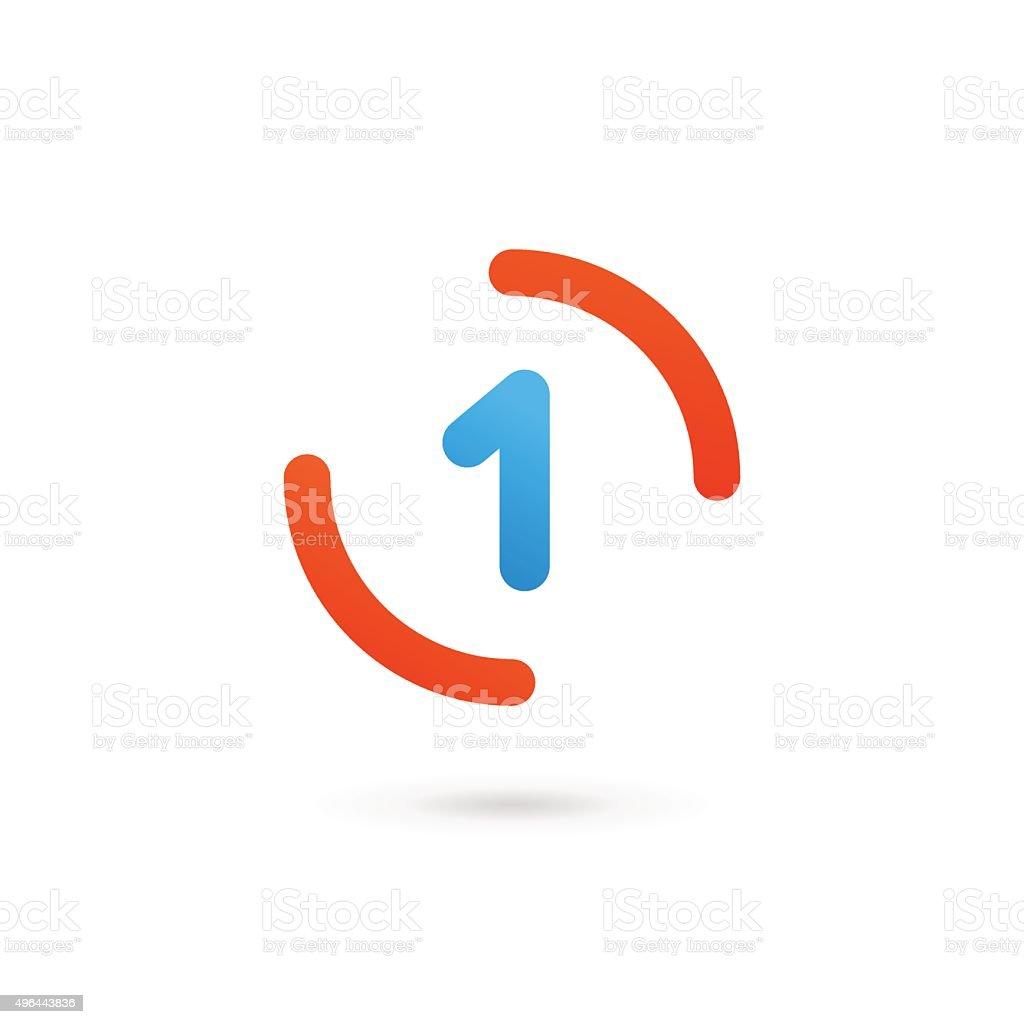 ナンバー 1 設計テンプレート要素のアイコン のイラスト素材 496443836