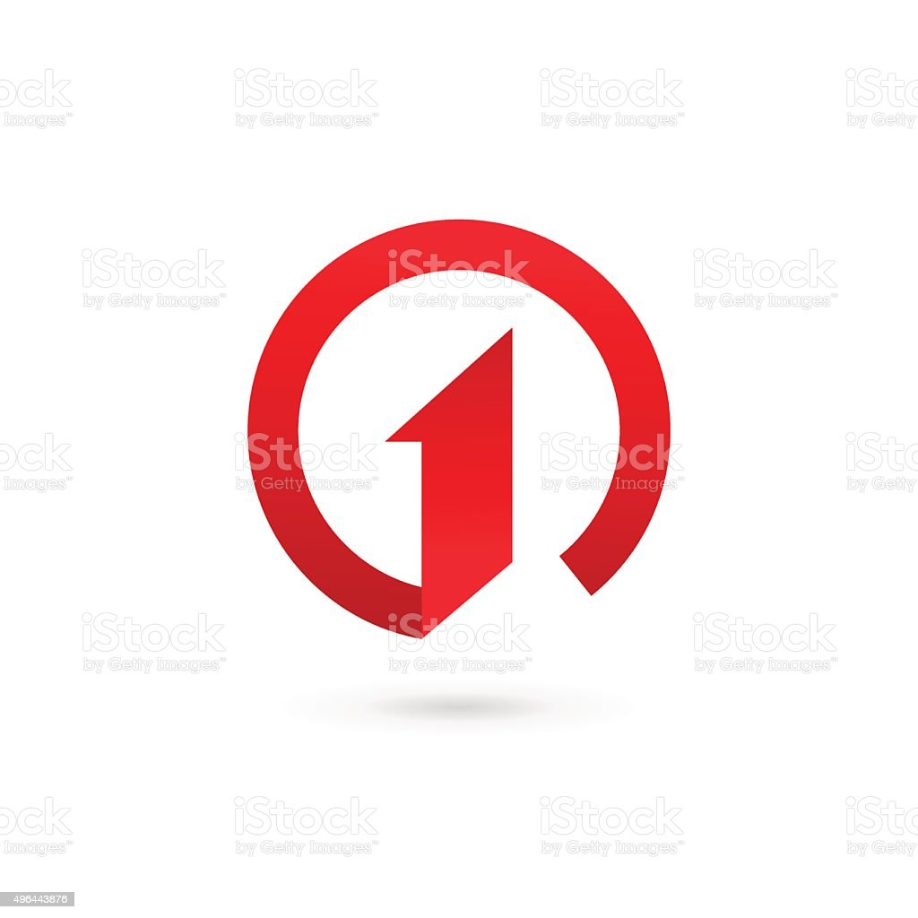 Number one 1 icon design template elements vector art illustration