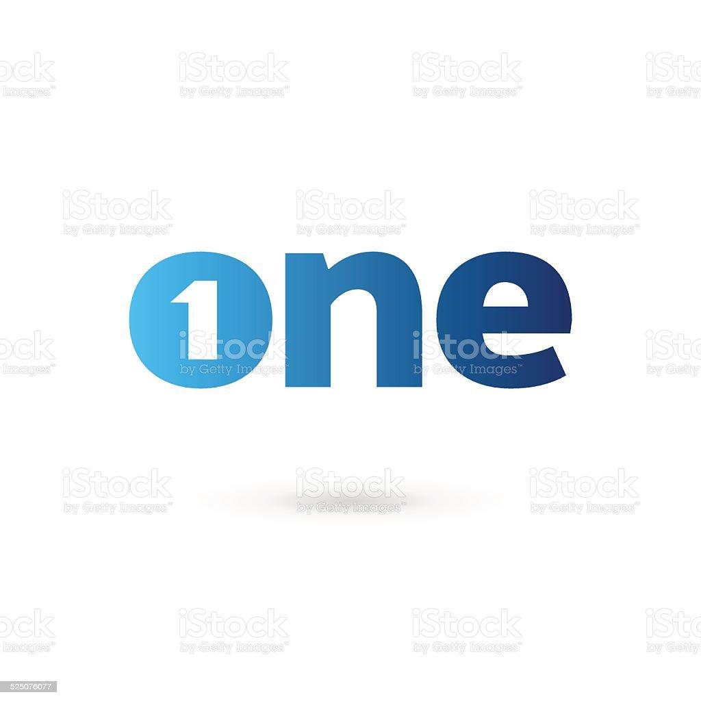 ナンバー 1 つの単語テンプレートデザイン要素アイコンシンボル