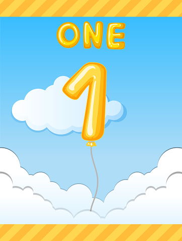 Number one balloon on sky