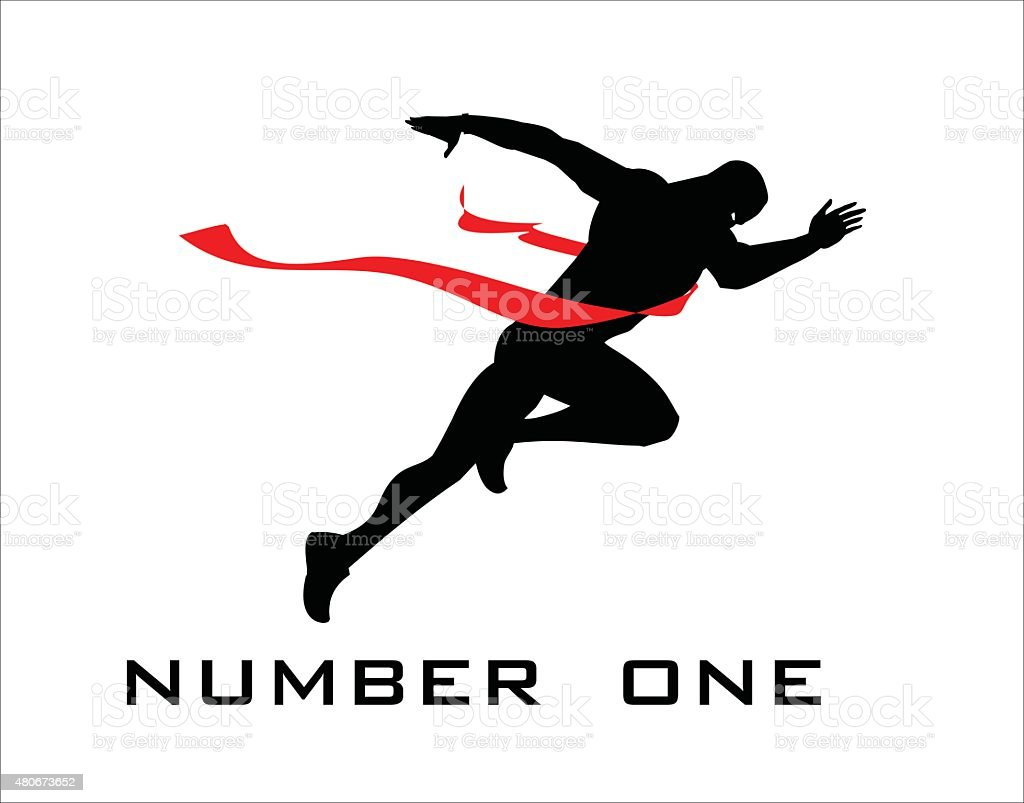 number one, finish line, winner. vector art illustration