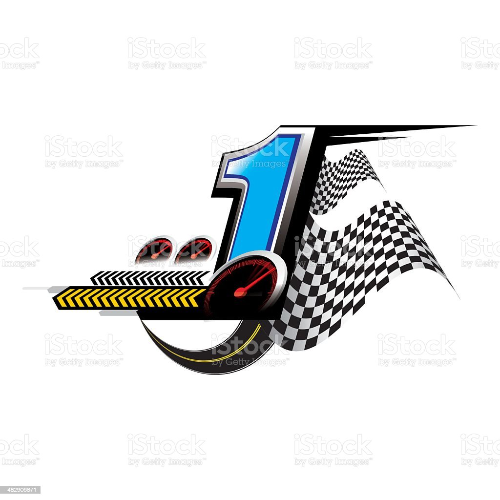 number one speed Concept vector vector art illustration