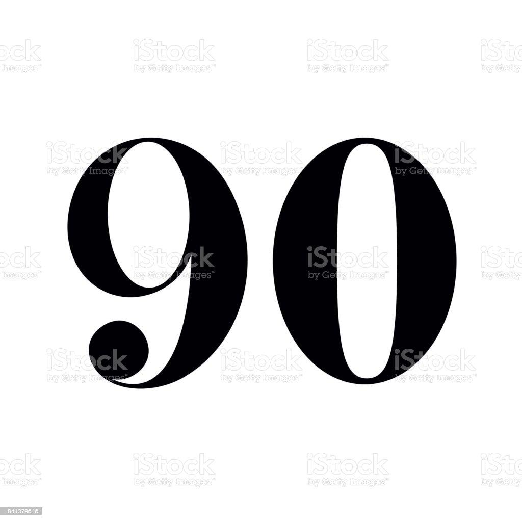 90 Anzahl Printdesign – Vektorgrafik