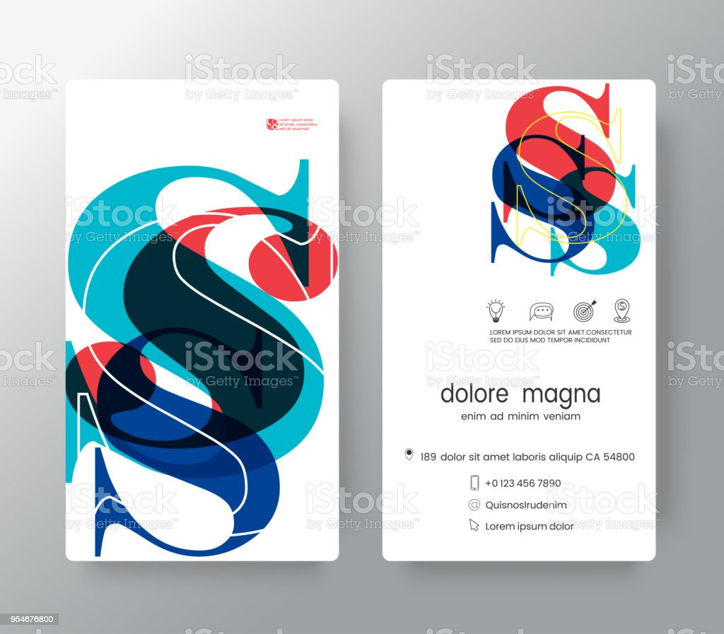 Number S Business Card Design Template Vector Graphic Design Elements For Corporate Identity Stock Illustration Download Image Now