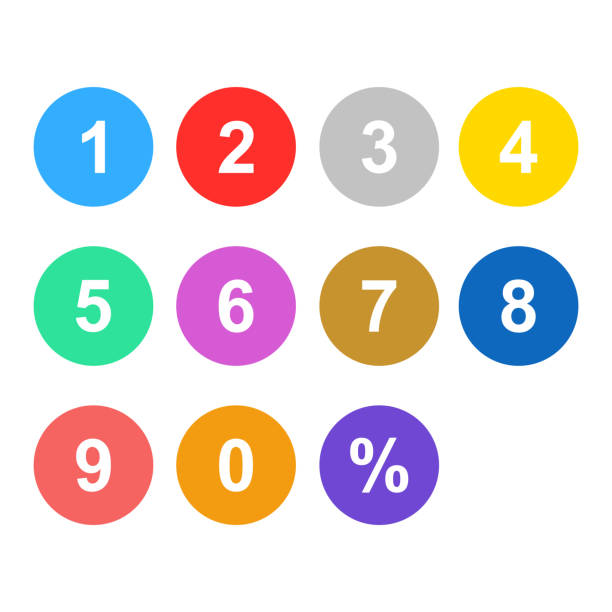 number set colorful isolated vector number set colorful isolated vector numbers stock illustrations