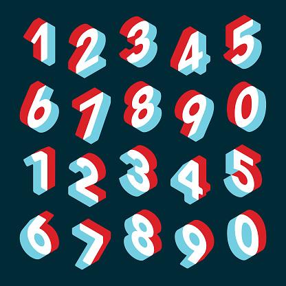 3D Number Set