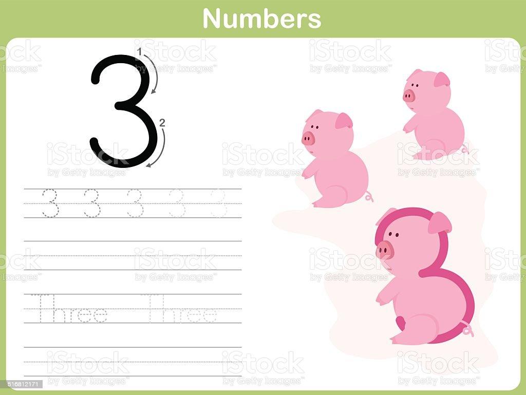 Seguimiento Número De Hoja De Cálculo Escrito 09 - Arte vectorial de ...