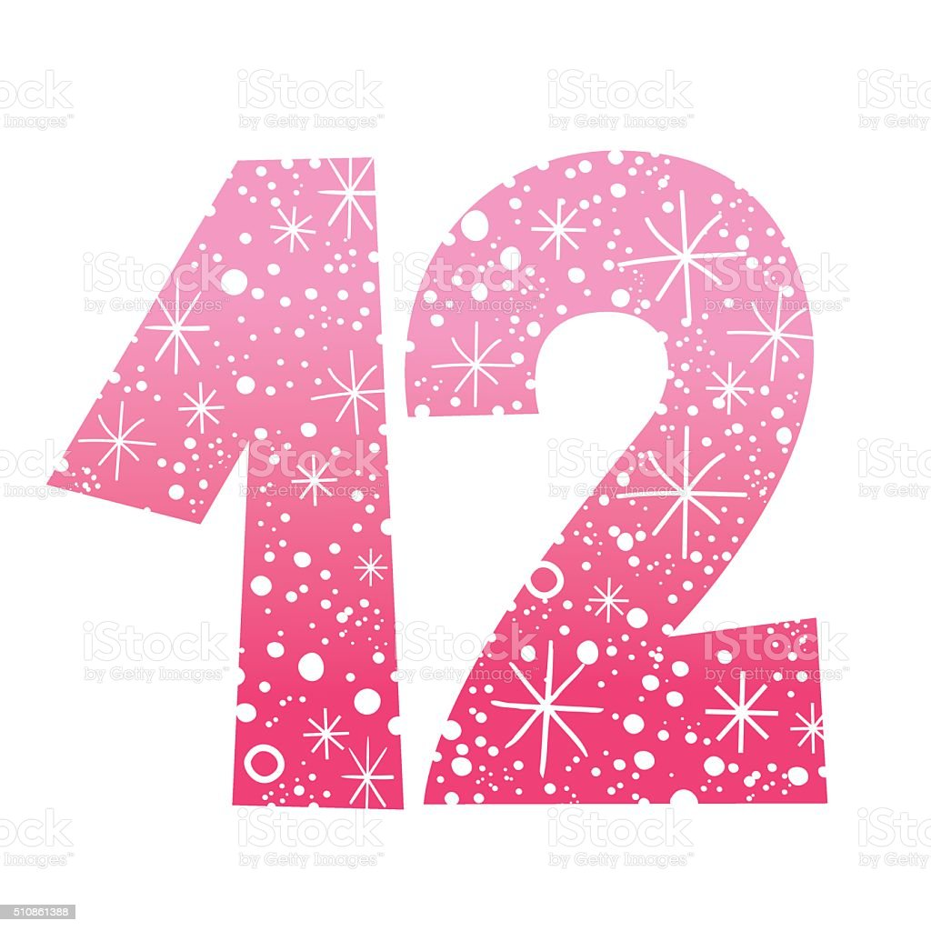 number twelve stock vector art  u0026 more images of