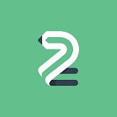 Vector typeface for art identity, school headlines, education posters etc.